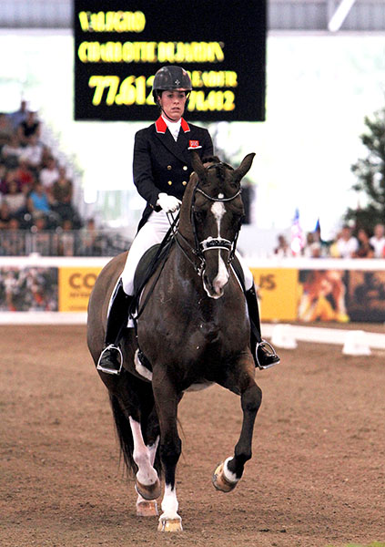 Charlotte Dujardin on Valegro completing the 2012 CDI4* Grand Prix in Florida that was the pair's first and, as it turned out, rare appearances outside Europe. © Ken Braddick/dressage-news.com