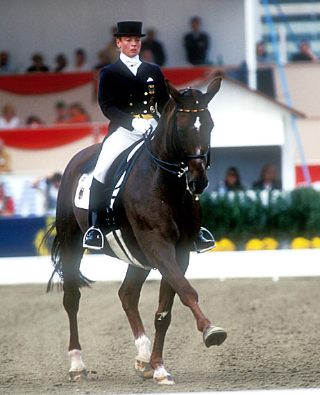 Isabell Werth on Gigolo won individual gold and led Germany to team gold at the 1998 World Games in Rome. © Kit Houghton/FEI