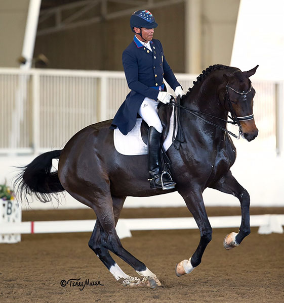 Steffen Peters and Legolas competing in California. © 2016 Terri Miller