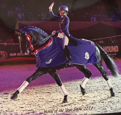 Charlotte Dujardin on Hawtins Delicato. Courtesy Horse of the Year Show