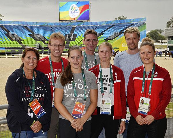 Rudolf Zeilinger with Danish team at Olympics in Rio de Janeiro. © 2016 Ridehesten