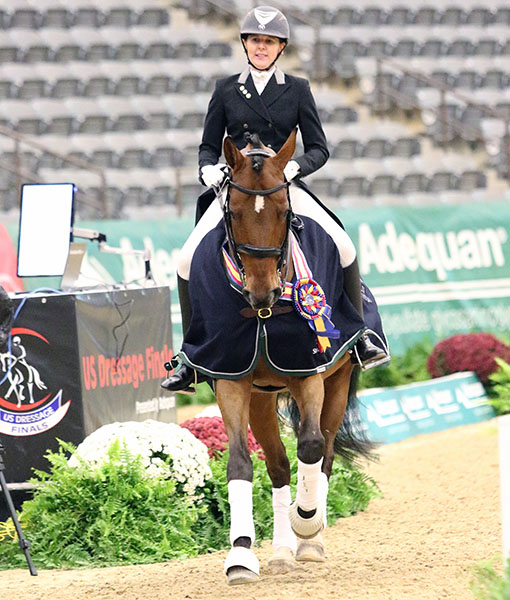 Amy Leach and Radcliffe that won the US Finals Int. II Adult Amateur Championship. © 2016 Ken Braddick/dressage-news.com