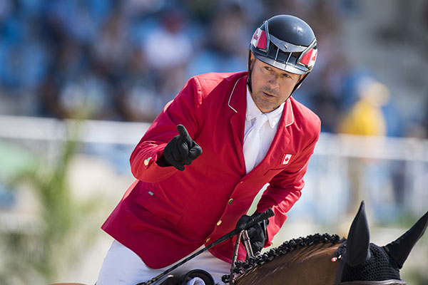 Eric Lamaze at the Olympics in Rio de Janeiro. Photo: Richard Juilliart/FEI