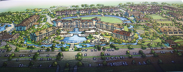 Artist's rendition of hotel and spa as well as housing to be built at the Tryon International Equestrian Center that will house riders and grooms at the World Equestrian Games in 2018.