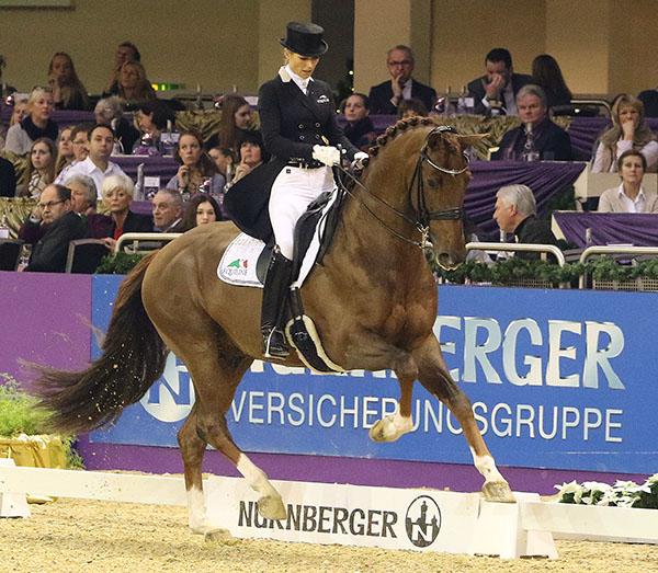 Isabel Freese and Vitalis in the Nürnberger Burg-Pokal Prix St. Georges Special. © 2016 Ken Braddick/dressage-news.com