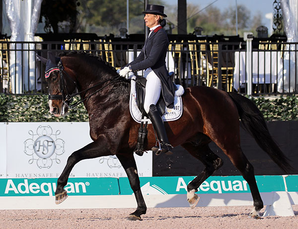 Charlotte Jorst and Kastel's Nintendo in the Adequan Global Dressage Festival CDI-W Grand Prix Special. © 2017 Ken Braddick/dressage-news,com