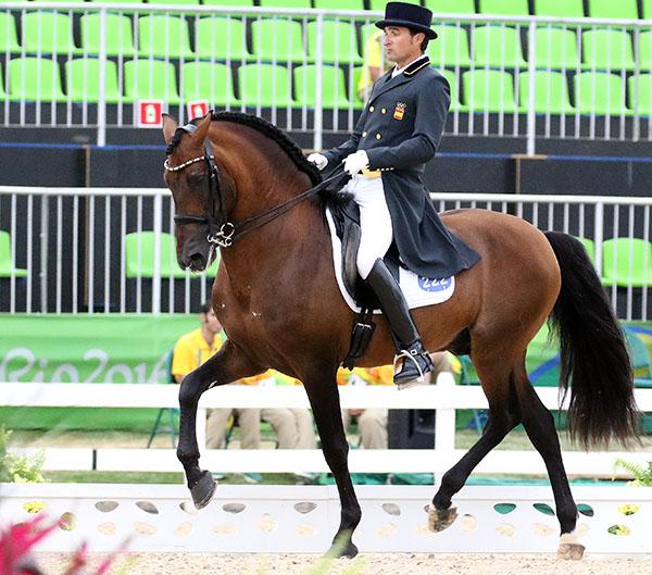 Grandioso and Jose Daniel Martin Dockx at the Olympic Games in Rio de Janeiro. © 2016 Ken Braddick/dressage-news.com