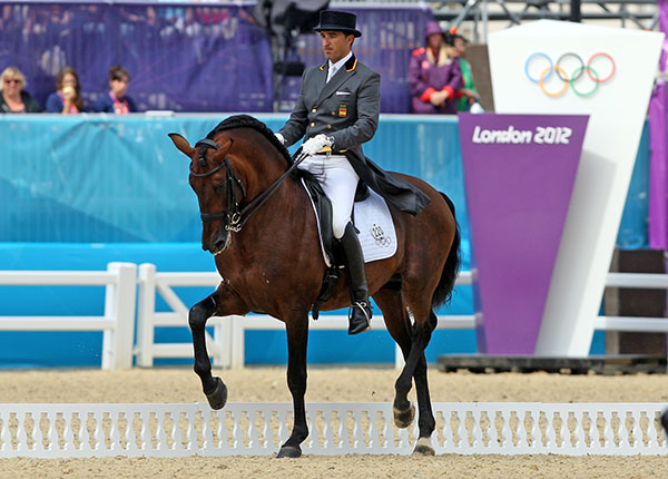 Grandioso with Jose Daniel Martin Dockx at the Olympic Games in London in 2012. © 2012 Ken Braddick/dressage-news.com