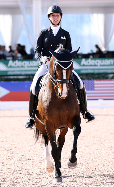 Canadian Olympic combination of Megan Lane and Caravella. © 2017 Ken Braddick/dressage-news.com
