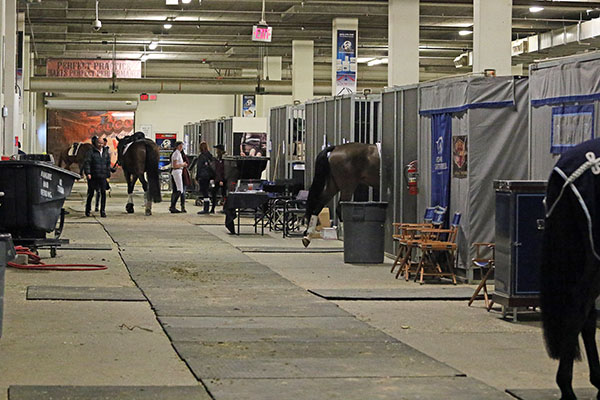 Air conditioned stabled at the South Point casino-resort indoor equestrian center in Las Vegas. © 2017 Ken Braddick/dressage-news.com