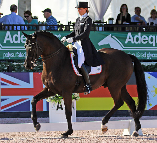 Suzan Pape and Hamony's Don Noblesse in the Global Dressage Festival World Cup event. © 2017 Ken Braddick/dressage-news.com